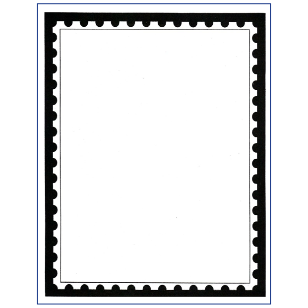 Blank stamp outline