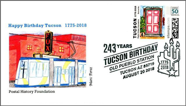 Collectible Set, including cachet design, stamp, and postmark